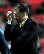 Southampton - Tuesday, September 30th, 2008: Glenn Roeder, manager of Norwich City turns away from the action during the Coca Cola Championship match at Southampton. (Pic by Daniel Hambury/Focus Images)