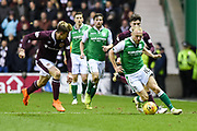 Man of the match Dylan McGeoch on the ball during the Ladbrokes Scottish Premiership match between Hibernian and Heart of Midlothian at Easter Road, Edinburgh, Scotland on 9 March 2018. Picture by Kevin Murray.