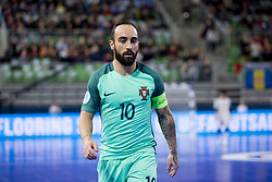 Ricardinho of Portugal during futsal semifinal match between National teams of Russia and Portugal at Day 9 of UEFA Futsal EURO 2018, on February 8, 2018 in Arena Stozice, Ljubljana, Slovenia. Photo by Urban Urbanc / Sportida
