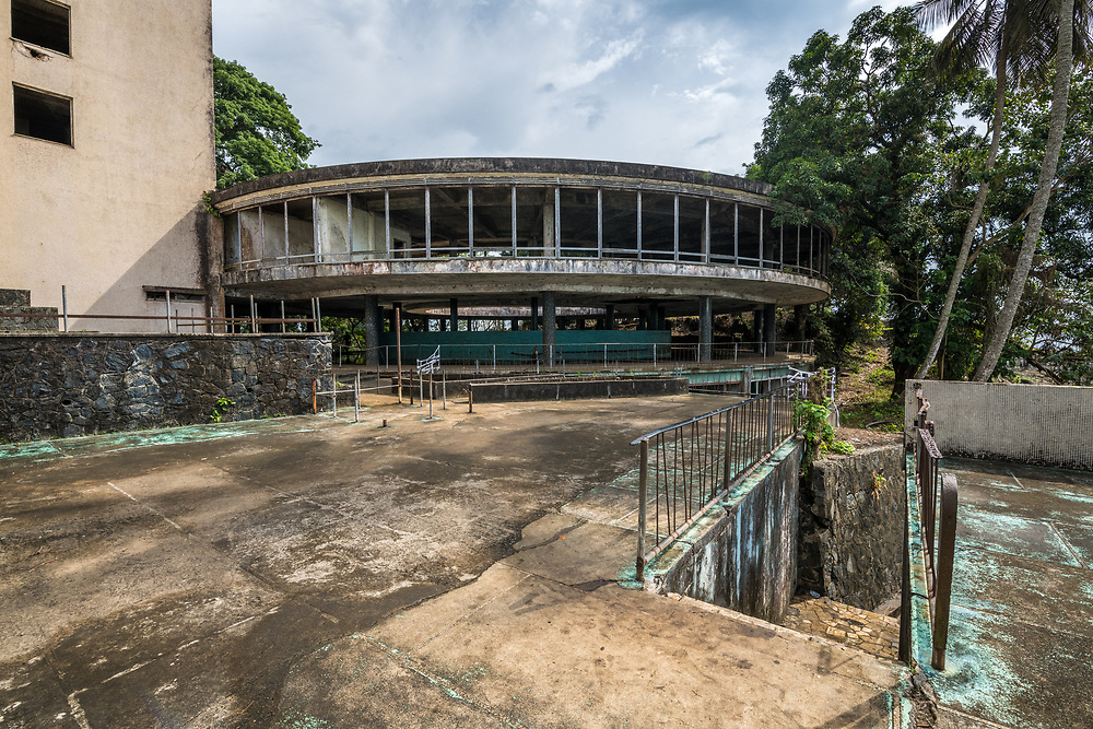 The abandoned Ducor Hotel, once the most prominent hotels in Monrovia, Liberia