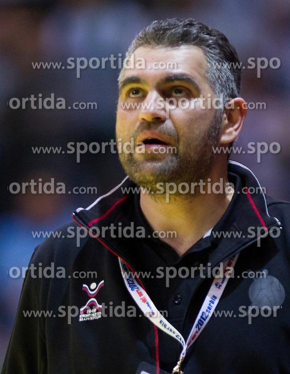 Boris Denic, head coach of Slovenia during handball match between Slovenia and Croatia in  2nd Round of Preliminary Round of 10th EHF European Handball Championship Serbia 2012, on January 18, 2012 in Millennium Center, Vrsac, Serbia. Croatia defeated Slovenia 31-29. (Photo By Vid Ponikvar / Sportida.com)