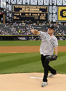 CHICAGO - JUNE 21:  Actor and Hollywood celebrity Kelsey Grammer throws out a ceremonial first pitch prior to the game between the Chicago Cubs and Chicago White Sox on June 21, 2011 at U.S. Cellular Field in Chicago, Illinois.  (Photo by Ron Vesely)  Subject:  Kelsey Grammer