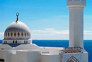 Spanje, Gibraltar, 1-6-2000..De moskee van Gibraltar, gelegen op de zuidpunt van de rots. Geschonken door koning Fahd van Saoudi Arabie. Er leven veel Marokkanen als gastarbeiders op de rots...Britse kroonkolonie. Spanje wil de rots terug...Foto: Flip Franssen/Hollandse Hoogte