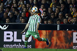 February 28, 2019 - Valencia, Spain - Guardado  of Real Betis Balompie  During Spanish King La Copa match between  Valencia cf vs Real Betis Balompie Second leg  at Mestalla Stadium on February 28, 2019. (Photo by Jose Miguel Fernandez/NurPhoto) (Credit Image: © Jose Miguel Fernandez/NurPhoto via ZUMA Press)