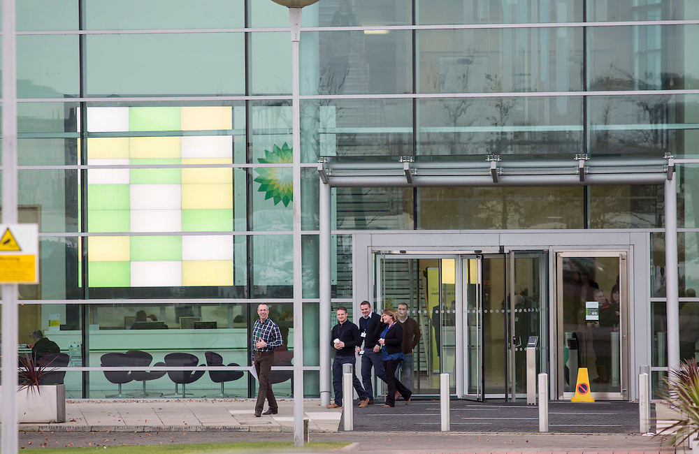 BP ANNOUNCE JOB LOSSES DUE TO THE PLUNGE IN OIL PRICE ..  PICTURE OF BP NORTH SEA HQ IN ABERDEEN AS STAFF WERE BEING TOLD THE NEWS OF 300 JOB LOSSES<br /> PIC DEREK IRONSIDE / NEWSLINE MEDIA LTD