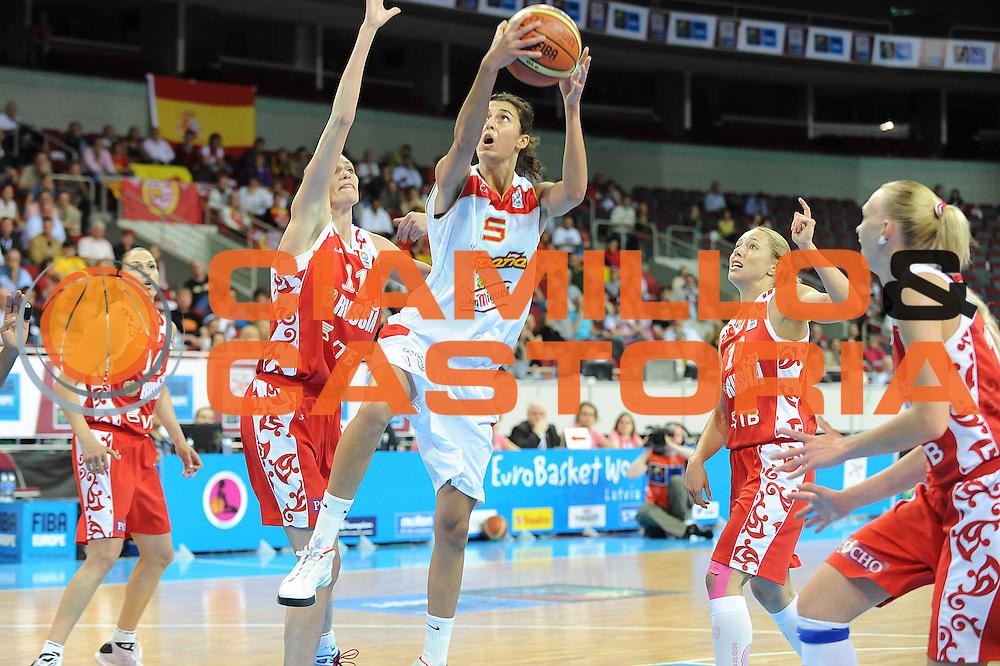 DESCRIZIONE : Riga Latvia Lettonia Eurobasket Women 2009 Semifinal Spagna Russia Spain Russia<br /> GIOCATORE : Alba Torrens<br /> SQUADRA : Spagna Spain<br /> EVENTO : Eurobasket Women 2009 Campionati Europei Donne 2009 <br /> GARA : Spagna Russia Spain Russia<br /> DATA : 19/06/2009 <br /> CATEGORIA : super tiro<br /> SPORT : Pallacanestro <br /> AUTORE : Agenzia Ciamillo-Castoria/M.Marchi<br /> Galleria : Eurobasket Women 2009 <br /> Fotonotizia : Riga Latvia Lettonia Eurobasket Women 2009 Semifinal Spagna Russia Spain Russia<br /> Predefinita :