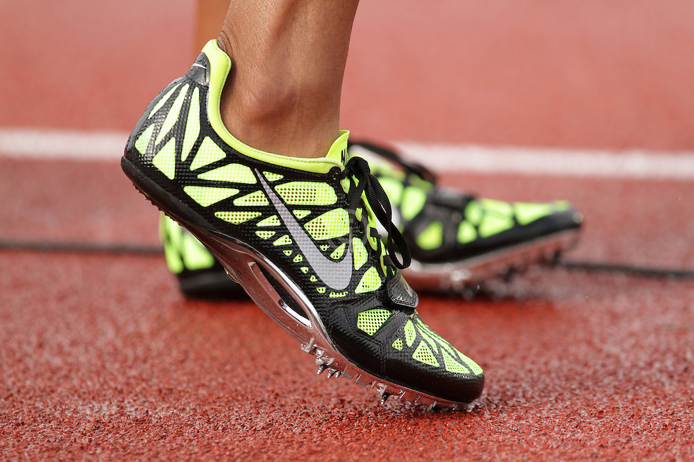 Olympic Trials Eugene 2012: women's 400 meters semifinal, Nike spikes