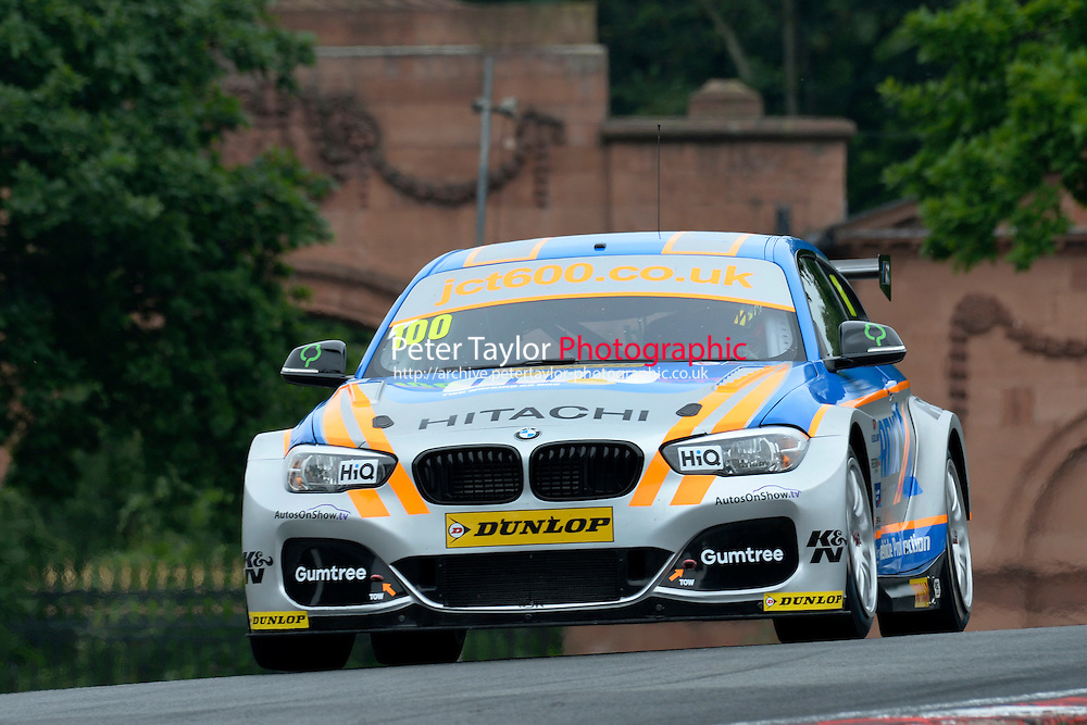 #100 Robert Collard GBR Team JCT600 with GardX BMW 125i M Sport  during first practice for the BTCC Oulton Park 4th-5th June 2016 at Oulton Park, Little Budworth, Cheshire, United Kingdom. June 04 2016. World Copyright Peter Taylor/PSP.