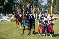 SCHEFCZYK Gregor (GER), Giada di Montefiridolfi <br /> Donaueschingen - CHI 62. Internationales S.D. Fürst Joachim zu Fürstenberg-Gedächtnisturnier 2018<br /> ESCON Spring Club<br /> Small Tour<br /> 19. August 2018<br /> © www.sportfotos-lafrentz.de/Stefan Lafrentz