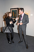 CHERYL COHEN; TIM JEFFERIES, Pavilion of art and design.- PAD London  Berkeley Square. London. 10 October 2011. <br /> <br />  , -DO NOT ARCHIVE-© Copyright Photograph by Dafydd Jones. 248 Clapham Rd. London SW9 0PZ. Tel 0207 820 0771. www.dafjones.com.