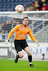 Falkirk's Michael McGovern..Falkirk 1 v 0 Queen of the South, 15/10/2011..Pic © Michael Schofield.