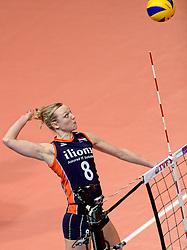 07-01-2016 TUR: European Olympic Qualification Tournament Nederland - Kroatie, Ankara<br /> Nederland verslaat Kroatië met 3-0 en gaat als groepswinnaar de halve finale in / Judith Pietersen #8