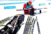 Yves Bourque of Canada prepares for Biathlon training at Alpensia Olympic Park ahead of the PyeongChang 2018 Paralympic Games on March 9, 2018 in Pyeongchang-gun, South Korea.