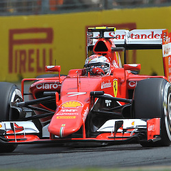 Kimi Raikkonen, Scuderia Ferrari.<br /> Round 1 - Third day of the 2015 Formula 1 Rolex Australian Grand Prix at The circuit of Albert Park, Melbourne, Victoria on the 14th March 2015.<br /> Wayne Neal | SportPix.org.uk