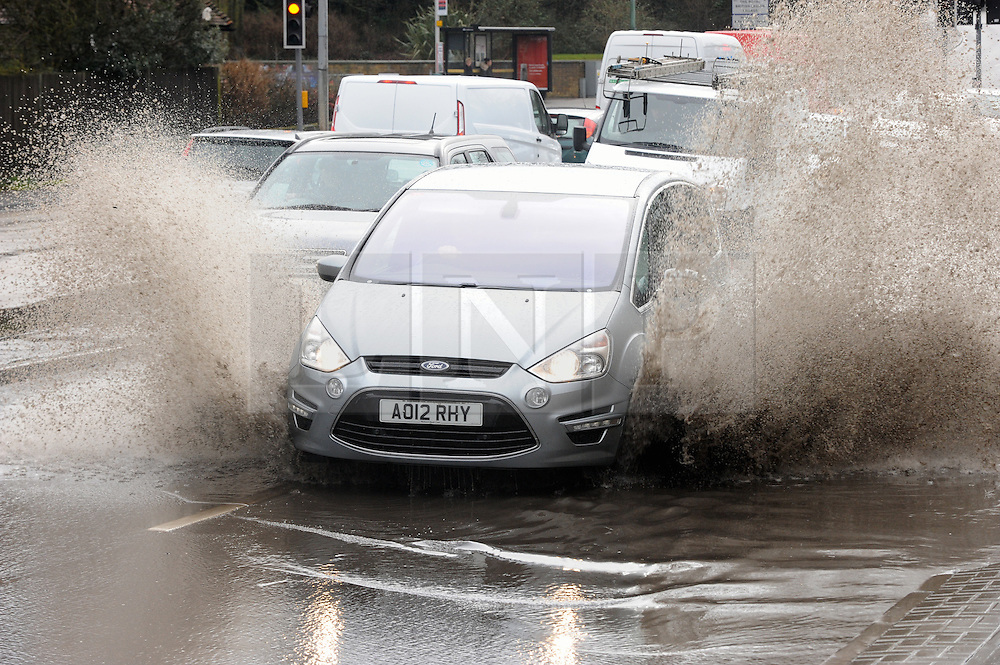© Licensed to London News Pictures. 09/03/2016<br /> London Road in Aylesford,Kent is flooded by up to a foot of rain water. <br /> Wet weather overnight has caused flooding on roads in Kent.<br />  <br />  (Byline:Grant FalveyLNP)