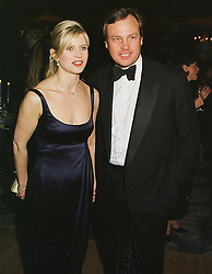 The MARQUESS & MARCHIONESS OF MILFORD HAVEN  at a ball in London on 2nd March 1999.MOY 62