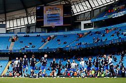 Leicester City players warm up - Mandatory by-line: Matt McNulty/JMP - 13/05/2017 - FOOTBALL - Etihad Stadium - Manchester, England - Manchester City v Leicester City - Premier League
