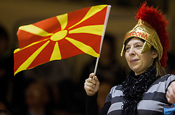 Fan of Macedonia during friendly handball match between National Teams of Slovenia and F.Y.R. of Macedonia on December 28, 2013 in Sports hall Polaj, Trbovlje, Slovenia. Photo by Vid Ponikvar / Sportida
