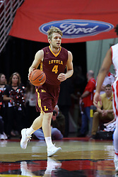 19 February 2017:  Bruno Skokna during a College MVC (Missouri Valley conference) mens basketball game between the Loyola Ramblers and Illinois State Redbirds in  Redbird Arena, Normal IL