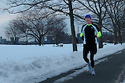 February 10, 2011 - A takes a morning run along the Charles River in Boston, MA. Photo by Lathan Goumas.
