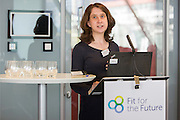 Mairi Davies, climate change manager, Historic Environment Scotland speaking at the  Network & Harvest 2016, Fit for the Future event, The Crystal, London. UK 17th October 2016