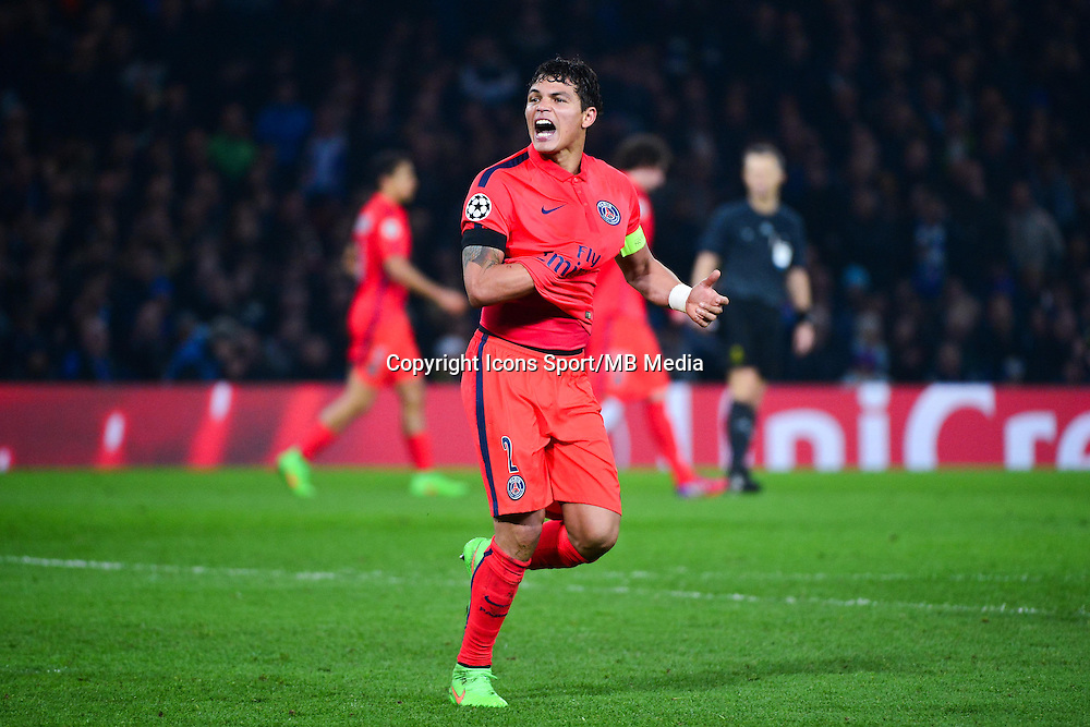 Joie Thiago SILVA - 11.03.2015 - Chelsea / Paris Saint Germain - 1/8Finale retour Champions League<br /> Photo : Dave Winter / Icon Sport