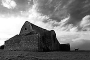 Ruined 18th-century hunting lodge on Montpellier Hill near Rathfarnham, Dublin, known as The Hellfire Club, where it is alleged that 18th century nobleman practiced satanism