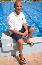 Coach Roni Pikec at practice of Slovenian swimmers before World Championships in Rome, on July 23 2009, in Kranj, Slovenia. (Photo by Vid Ponikvar / Sportida)