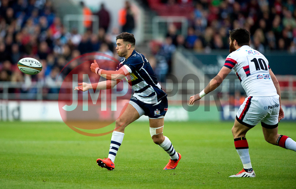 Bristol Rugby Inside Centre Ben Mosses spreads play - Mandatory byline: Joe Meredith/JMP - 25/05/2016 - RUGBY UNION - Ashton Gate Stadium - Bristol, England - Bristol Rugby v Doncaster Knights - Greene King IPA Championship Play Off FINAL 2nd Leg.
