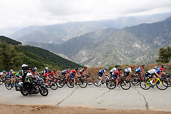 The leaders group continues to climb at Amgen Tour of California Women's Race empowered with SRAM 2019 - Stage 2, a 74 km road race from Ontario to Mount Baldy, United States on May 17, 2019. Photo by Sean Robinson/velofocus.com