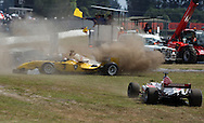 A1 Team Malaysia spins out in the A1 GP Feature Race, Taupo, New Zealand, Sunday 25 January 2009. Photo: Andrew Cornaga/PHOTOSPORT