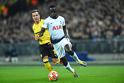 February 13, 2019 - London, England, United Kingdom - Borussia Dortmund midfielder Mario Gotze watches over Tottenham defender Davinson Sanchez during the UEFA Champions League match between Tottenham Hotspur and Ballspielverein Borussia 09 e.V. Dortmund at Wembley Stadium, London on Wednesday 13th February 2019. (Credit: Jon Bromley | MI News & Sport Ltd) (Credit Image: © Mi News/NurPhoto via ZUMA Press)