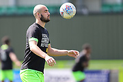 Forest Green Rovers Farrend Rawson(6) warming up during the EFL Sky Bet League 2 match between Forest Green Rovers and Cambridge United at the New Lawn, Forest Green, United Kingdom on 22 April 2019.