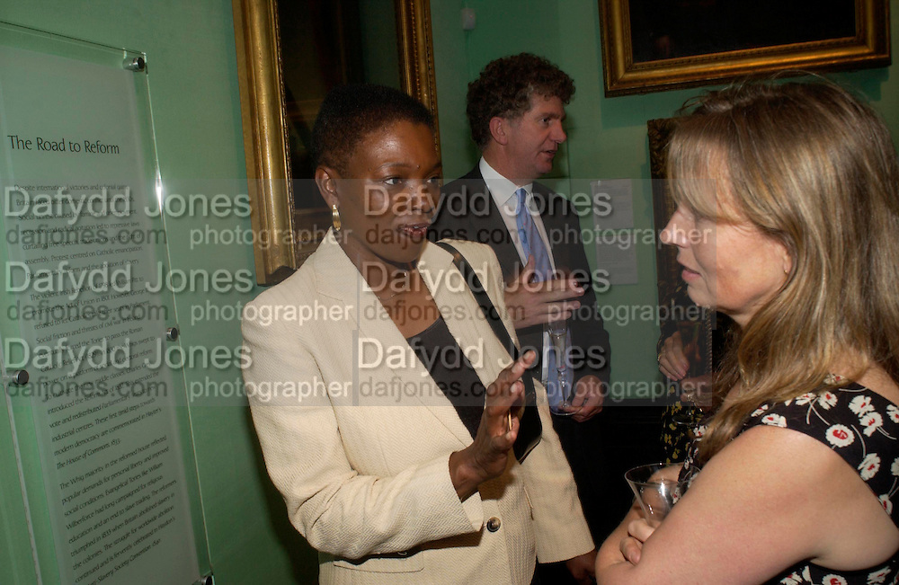Baroness Amos and  Tony's Blair's chief of staff Jonathan Powell.  Celebration of Lord Weidenfeld's 60 Years in Publishing hosted by Orion. the Weldon Galleries. National Portrait Gallery. London. 29 June 2005. ONE TIME USE ONLY - DO NOT ARCHIVE  © Copyright Photograph by Dafydd Jones 66 Stockwell Park Rd. London SW9 0DA Tel 020 7733 0108 www.dafjones.com
