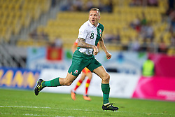 SKOPJE, MACEDONIA - Friday, September 6, 2013: Wales' Craig Bellamy in action against Macedonia during the 2014 FIFA World Cup Brazil Qualifying Group A match at the Philip II Arena. (Pic by David Rawcliffe/Propaganda)