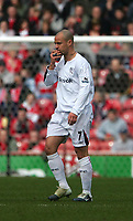 Photo: Andrew Unwin.<br /> Middlesbrough v Bolton Wanderers. The Barclays Premiership. 26/03/2006.<br /> Bolton's Stelios celebrates his goal.