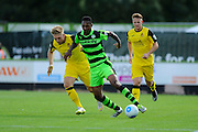 Ethan Pinnock (16) of Forset Green Rovers on the attack during the Vanarama National League match between Forest Green Rovers and Southport at the New Lawn, Forest Green, United Kingdom on 29 August 2016. Photo by Graham Hunt.