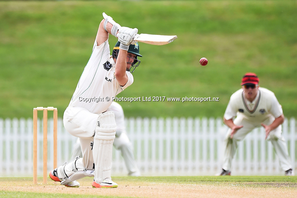 Stags player George Worker during Day 4 of their Plunket Shield match Central Stags v Canterbury. Saxton Oval, Nelson, New Zealand. Friday 24 March 2017. ©Copyright Photo: Chris Symes / www.photosport.nz