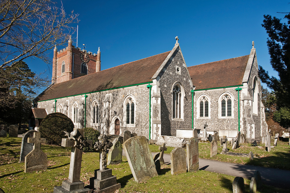 The Church of St Mary the Virgin in Wargrave, Berkshire, Uk