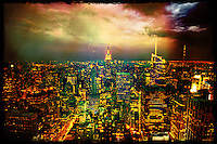 New-York City, Manhattan by Night.