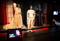 EDITORIAL USE ONLY<br /> Padme Amidala costumes go on display at The STAR WARS Identities: The Exhibition at The O2 in London, which features over 200 props, models, costumes and artwork from the original films.