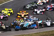 April 5-7, 2019: IndyCar Grand Prix of Alabama, Takuma Sato, Rahal Letterman Lanigan Racing, Honda leads the start of the Honda IndyCar Grand Prix