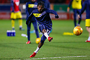 Oxford United midfielder Isaac Buckley-Ricketts (32), on loan from Manchester City,warming up  during the EFL Sky Bet League 1 match between Rotherham United and Oxford United at the AESSEAL New York Stadium, Rotherham, England on 13 February 2018. Picture by Simon Davies.