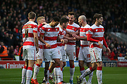 Doncaster Rovers forward Nathan Tyson scores during the The FA Cup third round match between Doncaster Rovers and Stoke City at the Keepmoat Stadium, Doncaster, England on 9 January 2016. Photo by Simon Davies.