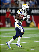 San Diego Chargers running back Melvin Gordon (28) returns a punt while warming up before the 2015 NFL preseason football game against the Arizona Cardinals on Saturday, Aug. 22, 2015 in Glendale, Ariz. The Chargers won the game 22-19. (©Paul Anthony Spinelli)