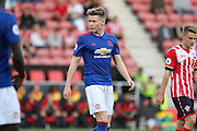 Scott Mctominay of Manchester United U23's during the Under 23 Premier League 2 match between Southampton and Manchester United at St Mary's Stadium, Southampton, England on 22 August 2016. Photo by Phil Duncan.