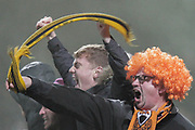 GOAL 2-1 Barnet fans celebrate Barnet forward Shaquile Coulthirst (10) goal during The FA Cup fourth round match between Barnet and Brentford at The Hive Stadium, London, England on 28 January 2019.