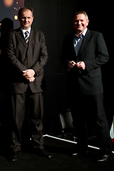President of Slovenian football federation Ivan Simic and head coach of national team Matjaz Kek at VIP reception of FIFA World Cup Trophy Tour by Coca-Cola, on March 29, 2010, in BTC City, Ljubljana, Slovenia.  (Photo by Vid Ponikvar / Sportida)
