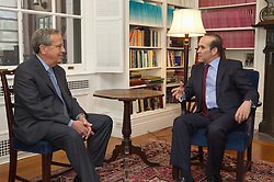 Turkish Ambassador to the United States, His Excellency Namik Tan visit at Yale University. Meeting with Yale President Richard C. Levin in the Presidents Offce | 6 December 2012