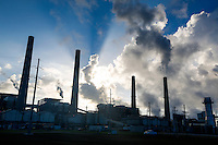 The W. A. Parish power plant on Friday Sept. 5, 2014 in rural Fort Bend County, TX. Ground was broken today on the Petra Nova Carbon Capture site, what will be the world's largest post-combustion carbon capture-enhanced oil recovery project. (Photo by Eric Kayne/Invision for NRG/AP Images)